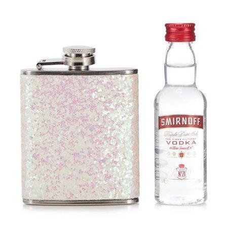 Debenhams Glitter hipflask and mini vodka set   Debenhams