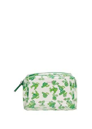 MANGO Cactus transparent cosmetic bag