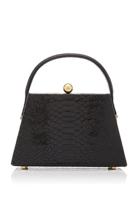 La Femme Croc-Effect Leather Top Handle Bag by Marargent | Moda Operandi