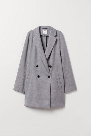 Manteau à double boutonnage - Gris chiné - FEMME | H&M FR