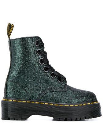 Dr. Martens Glitter Embellished Platform Boots