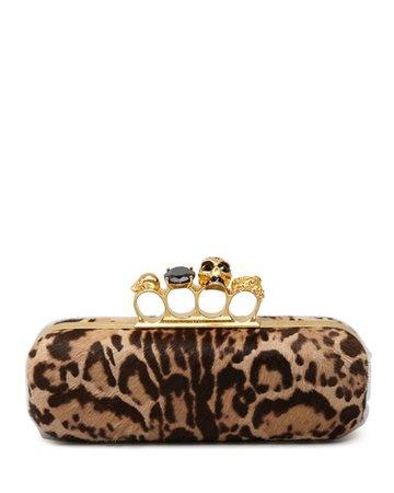 clutch alexander mcqueen - leopard print
