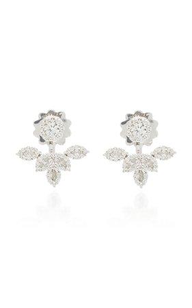 18K White Gold And Diamond Ear Cuffs by Yeprem | Moda Operandi