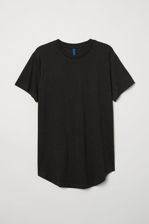 Long Fit T-shirt - Dark gray melange - Men   H&M US