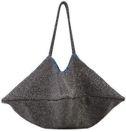 Flat Embellished Shoulder Bag