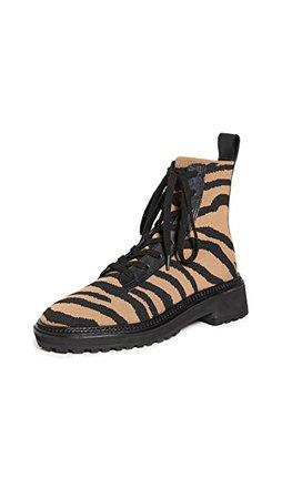 Loeffler Randall Brady Stretch Knit Combat Boots   SHOPBOP