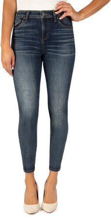 Donna High Waist Ankle Skinny Jeans