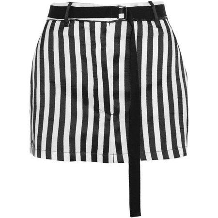 Ann Demeulemeester Striped satin-twill mini skirt