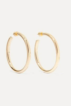 Jennifer Fisher | Baby Lilly gold-plated hoop earrings | NET-A-PORTER.COM