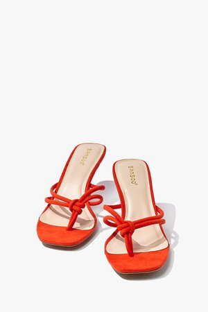 Knotted Open-Toe Stiletto Heels | Forever 21