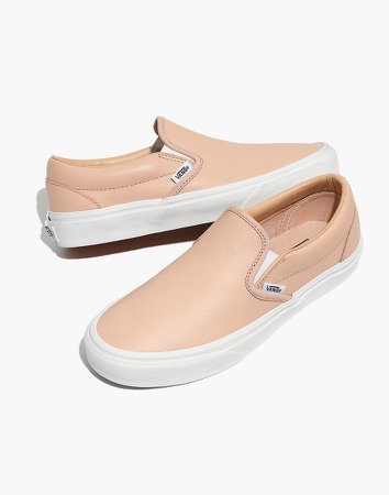 Vans Unisex Classic Slip-On Sneakers in Frappe Leather