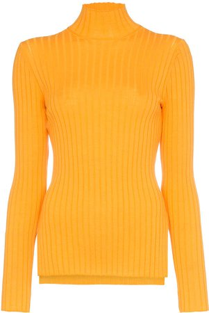 high neck long sleeve fitted rollneck