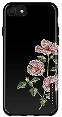 iPhone 8 with flower case