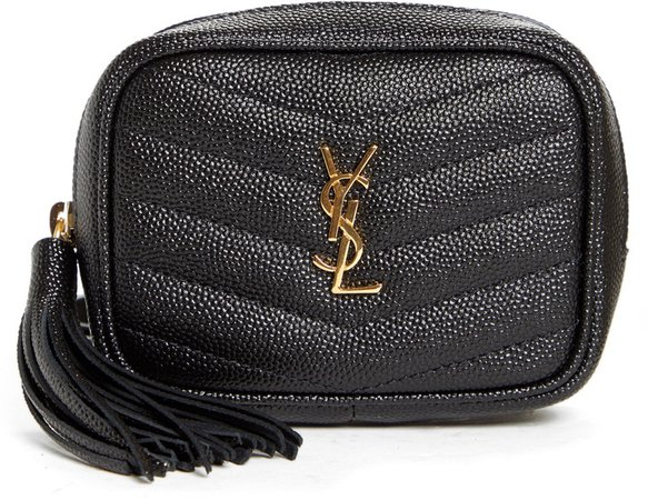 Baby Lou Quilted Leather Micro Crossbody Bag