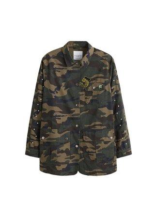 Violeta BY MANGO Beaded military jacket