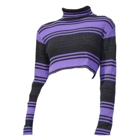 purple striped sweater png