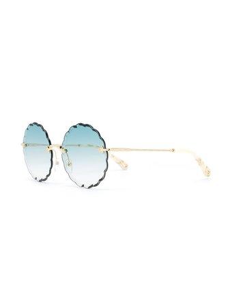 Chloé Eyewear Oversized Sunglasses CE142S Blue | Farfetch