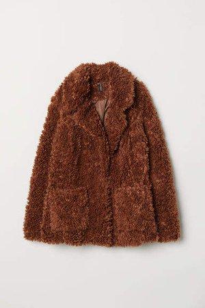 Faux Fur Jacket - Beige