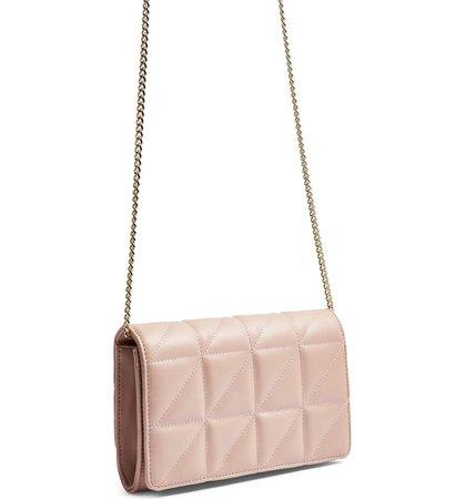Topshop Quilted Shoulder Bag   Nordstrom