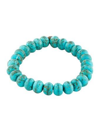 Isabel Marant Turquoise Beaded Bracelet - Bracelets - ISA67805 | The RealReal