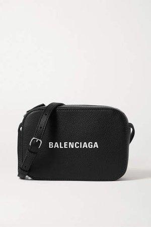 Everyday Printed Textured-leather Shoulder Bag - Black