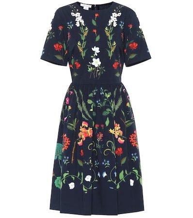 Floral stretch cotton dress