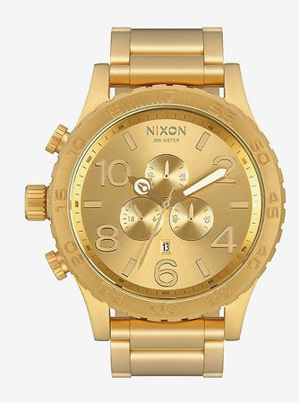 Nixon 51-30 Chrono All Gold Watch