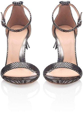 WtR - Mayfair Silver High Heeled Sandals