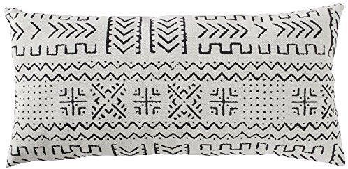 Oblong white pillow