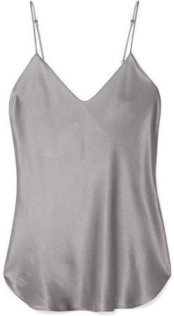 Isabella Silk-satin Camisole - Silver