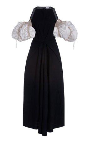 Puff-Sleeve Wool-Blend Maxi Dress By Loewe | Moda Operandi