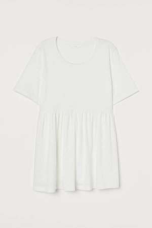 MAMA Cotton-blend Jersey Top - White