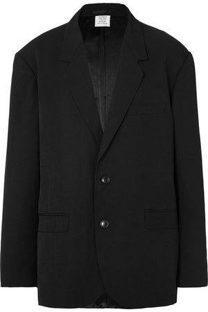 Vetements | Oversized appliquéd twill blazer | NET-A-PORTER.COM