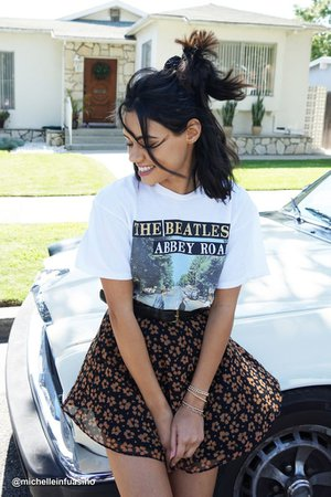 Junk Food The Beatles Abbey Road Glitter Tee   Urban Outfitters Canada