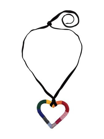Carolina Herrera Beaded Heart Necklace - Farfetch