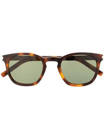 Saint Laurent Eyewear square-frame Tortoiseshell Sunglasses - Farfetch