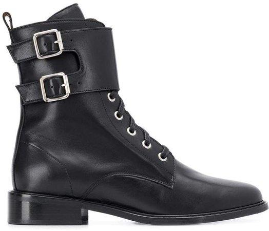 Como buckle strap boots