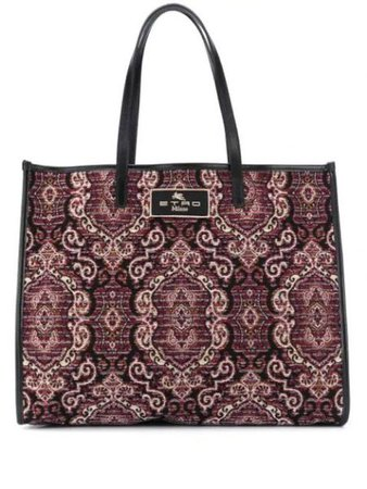 Jacquard Print Tote Bag  ETRO Intervista Fashion