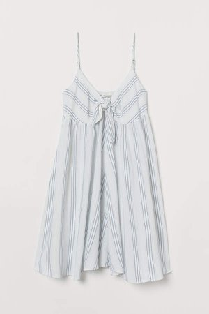 Tie-detail Dress - White