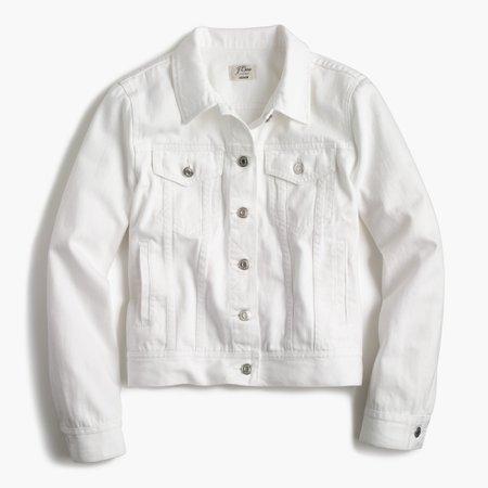 J.Crew: Denim Jacket In White For Women
