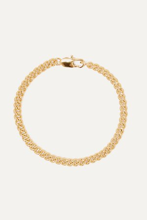 Laura Lombardi | Curb gold-plated bracelet | NET-A-PORTER.COM