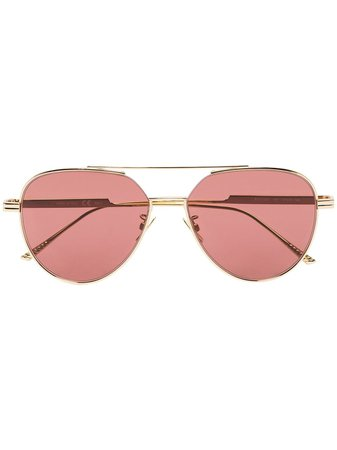 Bottega Veneta Eyewear aviator-frame Sunglasses - Farfetch