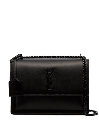 Saint Laurent Black Sunset Medium Leather Shoulder Bag