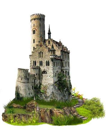 castle grey green png filler
