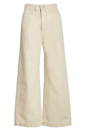 Proenza Schouler High Waist Crop Wide Leg Denim Culottes | Nordstrom