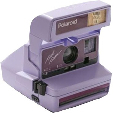 purple polaroid