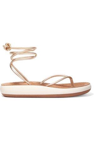 Ancient Greek Sandals   Piera metallic leather sandals   NET-A-PORTER.COM