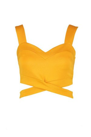 Cut Out Bralet   Boohoo