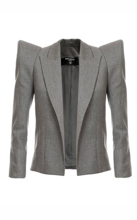 Shoulder Pad Flannel Blazer By Balmain | Moda Operandi