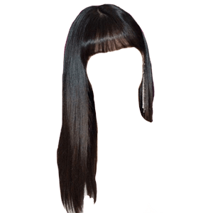 Black Hair Bangs PNG